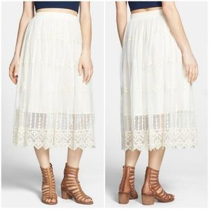 Astr Lace Maxi Skirt